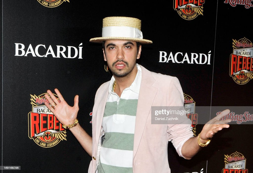 <a gi-track='captionPersonalityLinkClicked' href=/galleries/search?phrase=DJ+Cassidy&family=editorial&specificpeople=691457 ng-click='$event.stopPropagation()'>DJ Cassidy</a> attends the 2013 Bacardi Rebels Event Hosted By Rolling Stone at Roseland Ballroom on May 20, 2013 in New York City.