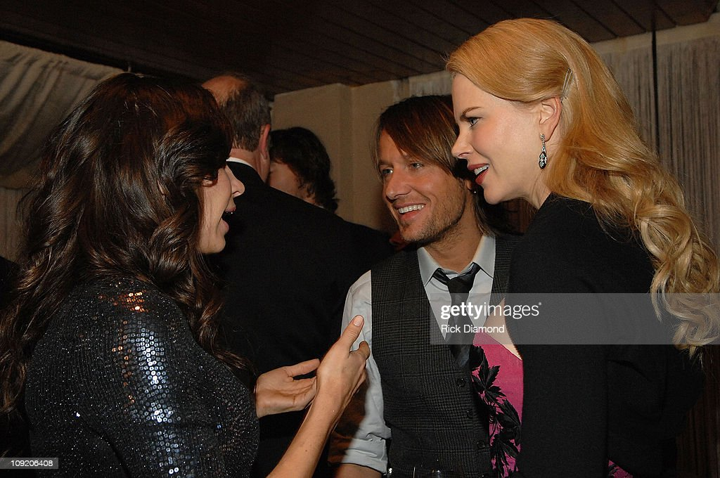 Cassidy Bentley talks with actress Nicole Kidman and singer/musician Keith Urban attends Capitol Records Nashville CMA Awards post show celebration...