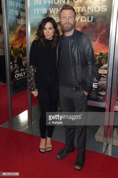 Cassidy Black and Dierks Bentley attend 'Only The Brave' screening at iPic Theater on October 17 2017 in New York City