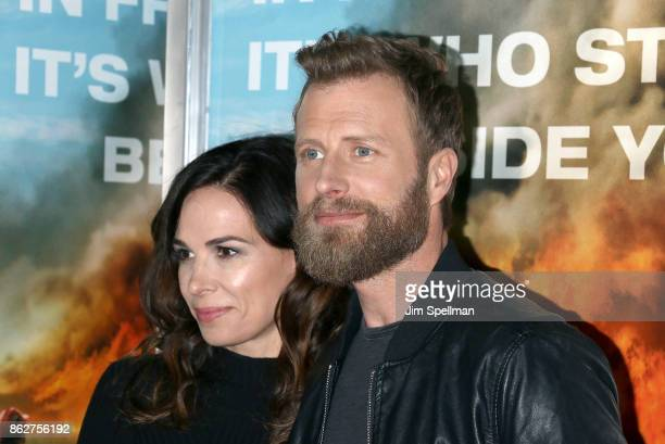 Cassidy Black and singer Dierks Bentley attend the 'Only The Brave' New York screening at iPic Theater on October 17 2017 in New York City