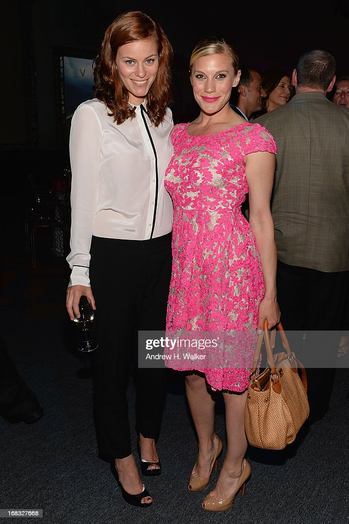 Cassidy Freeman and Katee Sackhoff of 'Longmire' attend the A+E Networks 2013 Upfront on May 8, 2013 in New York City.