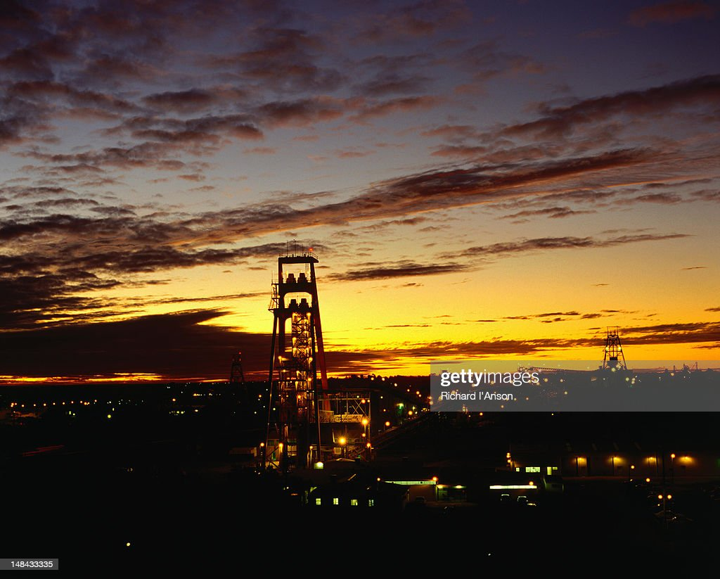Cassidy Headframe at sunset - Kalgoorlie, Western Australia