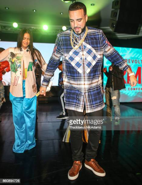 CAssie and French Montana performing at Eden Roc Hotel on October 12 2017 in Miami Beach Florida