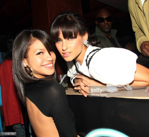 Cassie and Nelly Furtado during Sean 'Diddy' Combs 'Press Play' CD Listening Party and Andre Harrell Birthday Party September 25 2006 at Tenjune in...