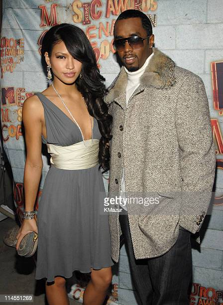 Cassie and Sean 'Diddy' Combs during 2006 MTV European Music Awards Copenhagen Red Carpet Arrivals at Bella Centre in Copenhagen Denmark