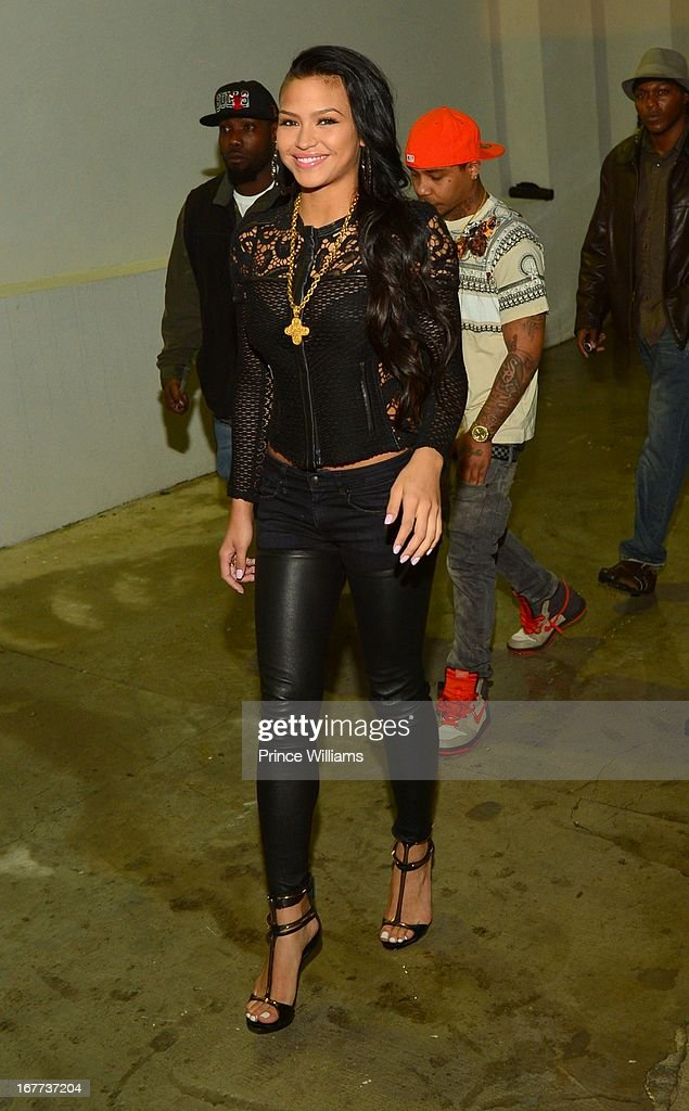 Cassie arrives at a party at Compound on April 28, 2013 in Atlanta, Georgia.