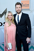 Cassie McConnell and recording artist Charles Kelley of Lady Antebellum attend the 51st Academy of Country Music Awards at MGM Grand Garden Arena on...