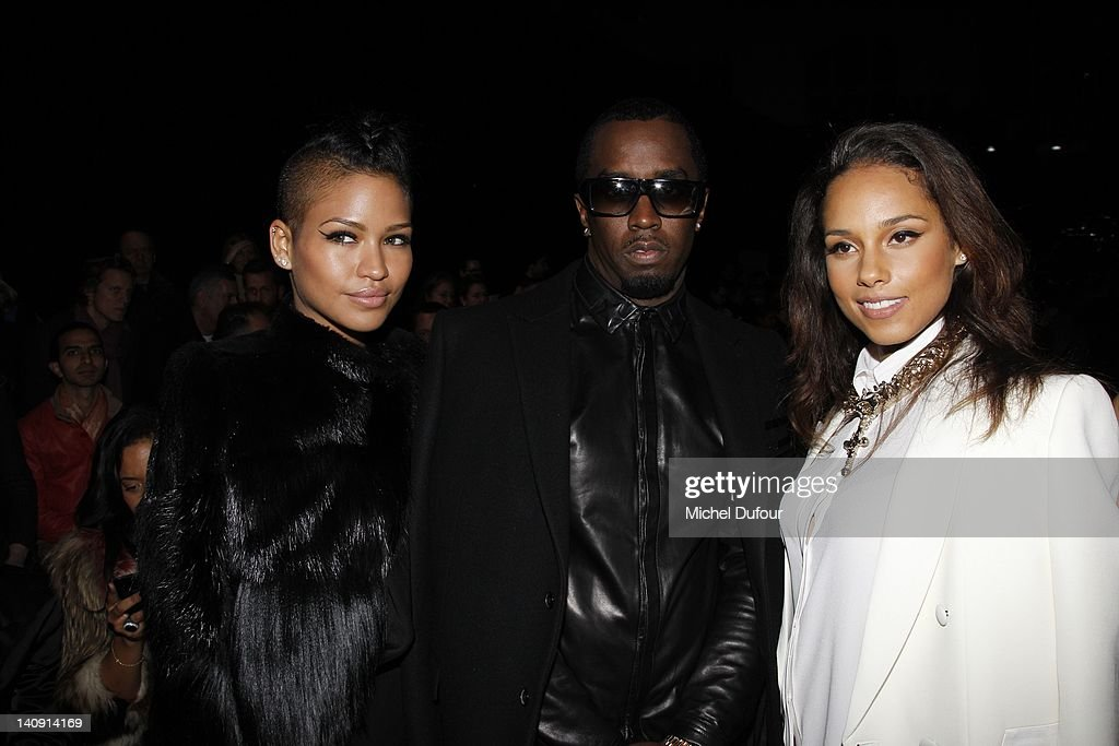 Cassie, <a gi-track='captionPersonalityLinkClicked' href=/galleries/search?phrase=Sean+Combs&family=editorial&specificpeople=178993 ng-click='$event.stopPropagation()'>Sean Combs</a> and <a gi-track='captionPersonalityLinkClicked' href=/galleries/search?phrase=Alicia+Keys&family=editorial&specificpeople=169877 ng-click='$event.stopPropagation()'>Alicia Keys</a> attend the Givenchy Ready-To-Wear Fall/Winter 2012 show as part of Paris Fashion Week on March 4, 2012 in Paris, France.