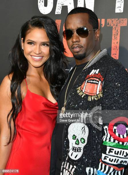 Cassie Sean Combs P Diddy arrives at the Los Angeles Premiere Of 'Can't Stop Won't Stop' at Writers Guild of America West on June 21 2017 in Los...
