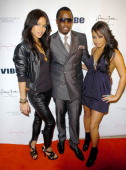 Cassie Sean 'Diddy' Combs and Lauren London attend the Sean John Women's launch party hosted by Cassie and London at the Sean John flagship store...