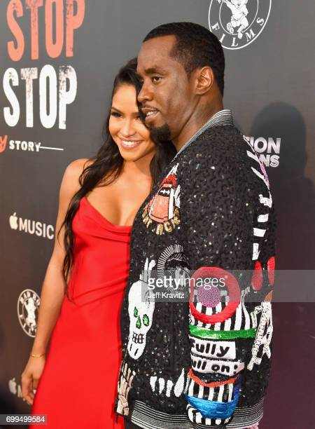 Cassie Ventura and Sean 'Diddy' Combs attend the Los Angeles Premiere of Apple Music's CAN'T STOP WON'T STOP A BAD BOY STORY at The WGA Theater on...