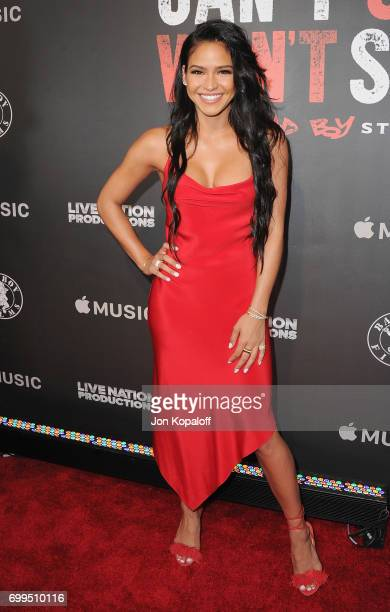 Cassie Ventura arrives at the Los Angeles Premiere Of 'Can't Stop Won't Stop' at Writers Guild of America West on June 21 2017 in Los Angeles...