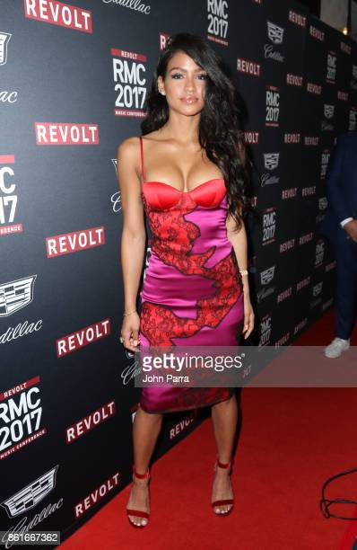Cassie Ventura attends REVOLT Music Conference Gala Dinner Award Presentation at Eden Roc Hotel on October 14 2017 in Miami Beach Florida