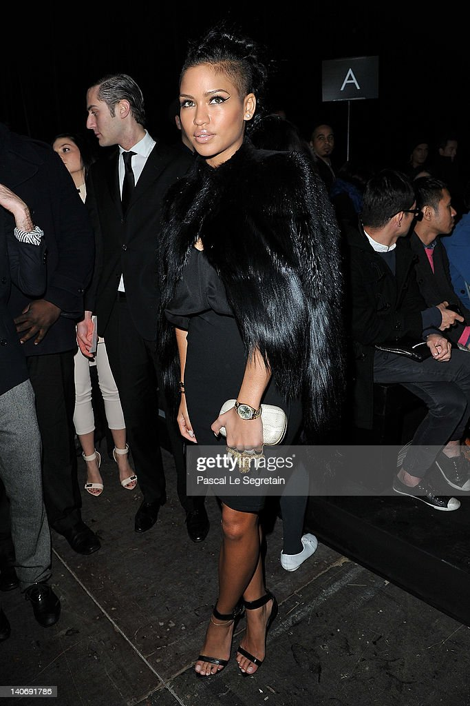 Cassie Ventura attends the Givenchy Ready-To-Wear Fall/Winter 2012 show as part of Paris Fashion Week at Lycee Carnot on March 4, 2012 in Paris, France.