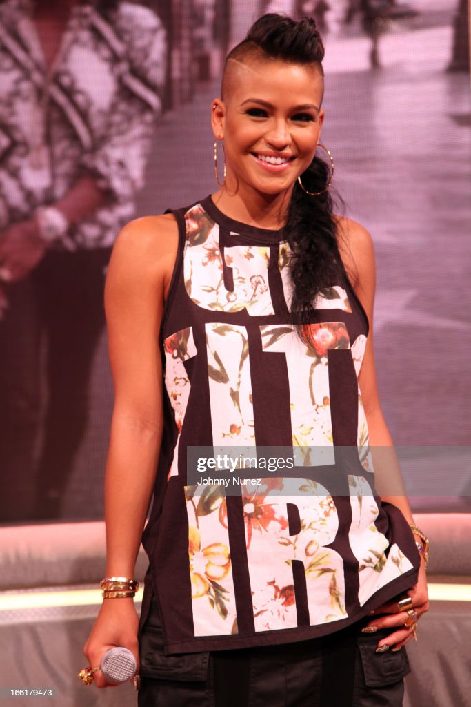 Cassie visits BET's 106 & Park at BET Studios on April 8, 2013, in New York City.