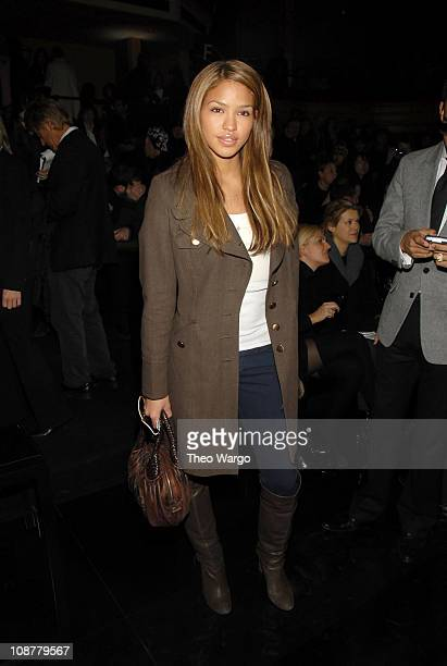 Cassie wearing Tommy Hilfiger during MercedesBenz Fashion Week Fall 2007 Tommy Hilfiger Front Row and Backstage at Hammerstein Ballroom in New York...