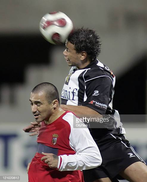 Cassio and Nem during a match between Nacional da Madeira and SC Braga in Funchal Portugal on January 13 2007