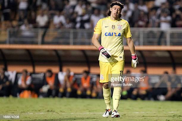 Cassio goalkeeper of Corinthians during a match between Corinthians and Boca Juniors as part of the Copa Bridgestone Libertadores 2013 at Pacaembu...