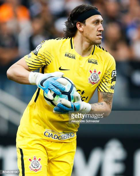 Cassio of Corinthians in action during the match between Corinthians and Flamengo for the Brasileirao Series A 2017 at Arena Corinthians Stadium on...