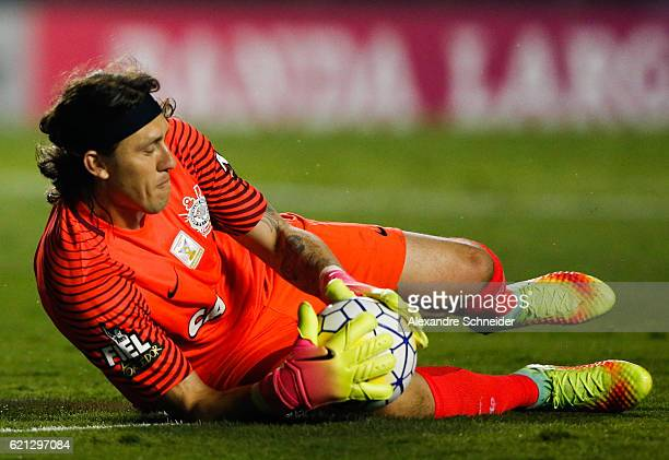 Cassio of Corinthians in action during the match between Sao Paulo and Corinthians for the Brazilian Series A 2016 at Mrumbi stadium on November 05...