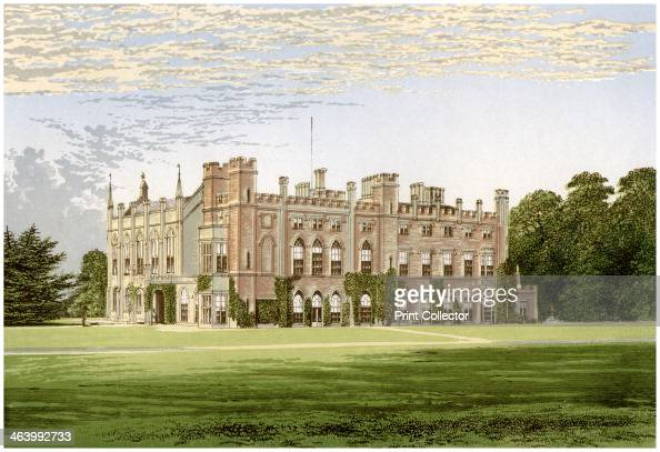 Cassiobury Park Hertfordshire home of the Earl of Essex c1880 The house was remodelled by James Wyatt for the 5th Earl in the 1800s A print from A...