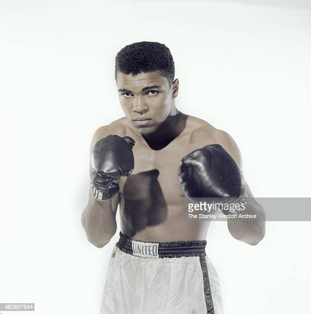Cassius Clay 20 year old heavyweight contender from Louisville Kentucky poses for the camera on May 17 1962 in Long Island New York