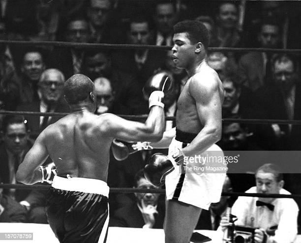 Cassius Clay avoids the right punch by Doug Jones during the fight at Madison Square Gardens on March 131963 in New YorkNew York Muhammad Ali won by...