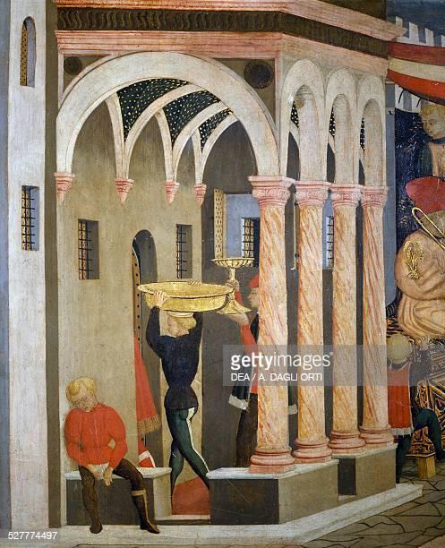 Cassone Adimari or Adimari Wedding Chest 14451450 by Giovanni di Ser Giovanni known as Lo Scheggia tempera on canvas 885x303 cm detail Italy 15th...