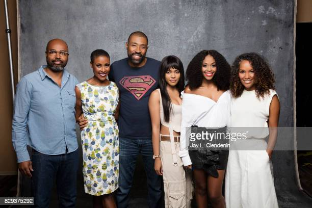 Cast and creators of 'Black Lightning' are photographed in the LA Times photo studio at ComicCon 2017 in San Diego CA on July 22 2017 CREDIT MUST...