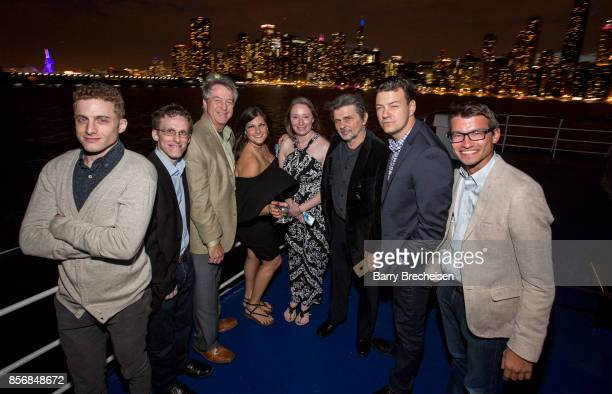 Cast and crew at the 'Conrad' series party on the Spirit of Chicago boat event showcasing the new crime drama that focuses on women empowerment and...