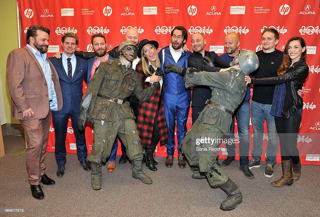 Cast and crew attend the 'Dead Snow; Red vs. Dead' premiere at Library Center Theater during the 2014 Sundance Film Festival on January 19, 2014 in Park City, Utah.
