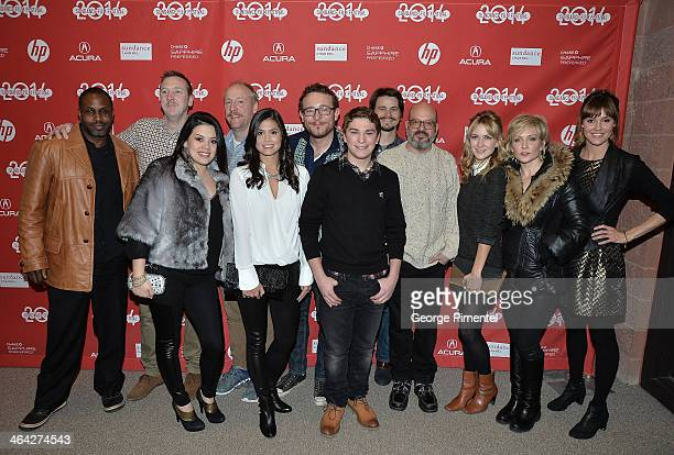 Cast and crew attend the 'Hits' premiere at Eccles Center Theatre during the 2014 Sundance Film Festival on January 21 2014 in Park City Utah