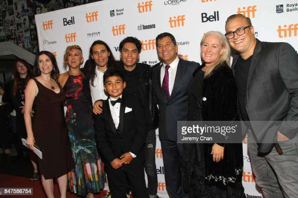 Cast and Crew attend the 'Indian Horse' premiere during the 2017 Toronto International Film Festival at TIFF Bell Lightbox on September 15 2017 in...