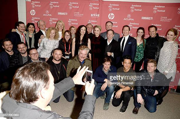Cast and crew attend the 'Zipper' premiere during the 2015 Sundance Film Festival on January 27 2015 in Park City Utah