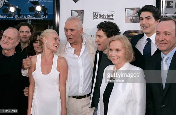 Cast and crew including actors James Marsden Parker Posey Kate Bosworth Frank Langella Director Bryan Singer actress Eva Marie Saint Brandon Routh...