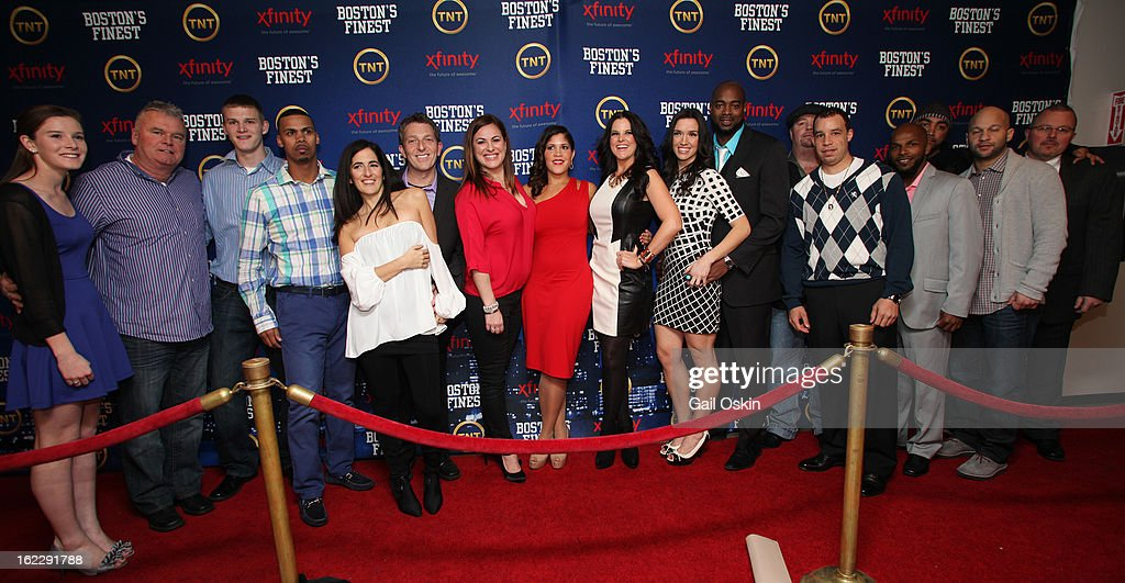 Cast and crew members attend TNT's 'Boston's Finest' premiere screening at The Revere Hotel on February 20, 2013 in Boston, Massachusetts.
