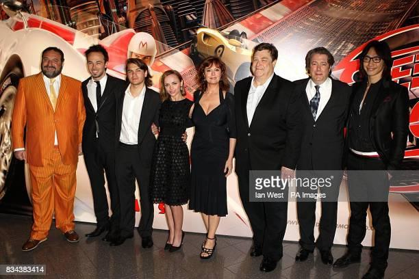 Cast and crew members producer Joel Silver Kirk Gurry Emile Hirsch Christina Ricci Susan Sarandon John Goodman Roger Allam and Rain arrive for the UK...