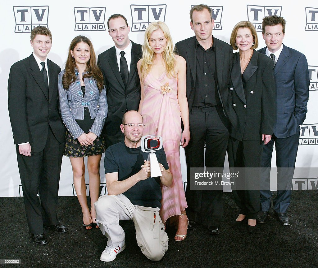 Cast and crew of 'Arrested Development' pose with their Future Classic award backstage at the 2nd Annual TV Land Awards held on March 7, 2004 at The Hollywood Palladium, in Hollywood, California.