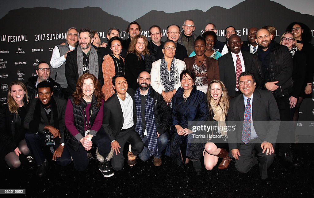 Cast and Crew of 'Bending The Arc' attend the 'Bending The Arc' Premiere at Library Center Theater on January 23, 2017 in Park City, Utah.