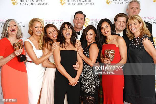 Cast and crew of Best Entertainment Programme winner 'Strictly Come Dancing' including Louise Ranbow Vinnie Shergill Sarah James Tess Daly Claudia...