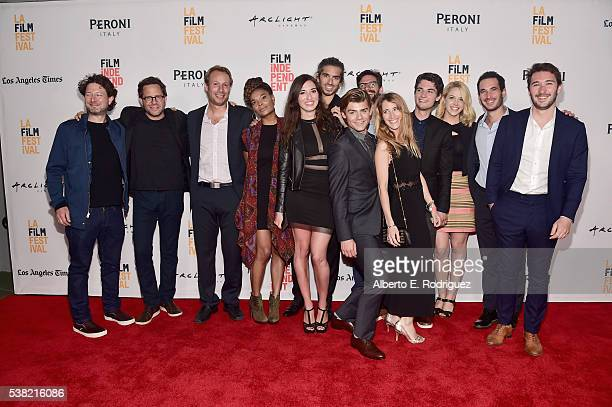 Cast and crew of Don't Hang Up attend the premieres of 'Don't Hang Up' and SBF 'Night Stalker' during the 2016 Los Angeles Film Festival at Arclight...