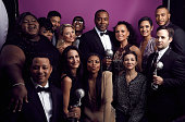 Cast and Crew of 'Empire' winners of the Outstanding Drama Series award pose for a portrait during the 47th NAACP Image Awards presented by TV One at...