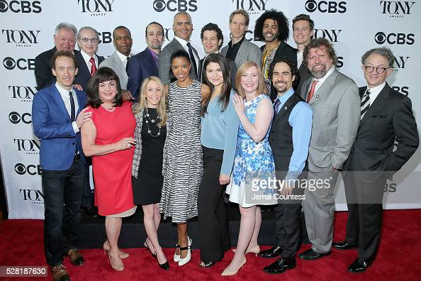 Cast and crew of 'Hamilton' attend the 2016 Tony Awards Meet The Nominees Press Reception on May 4 2016 in New York City