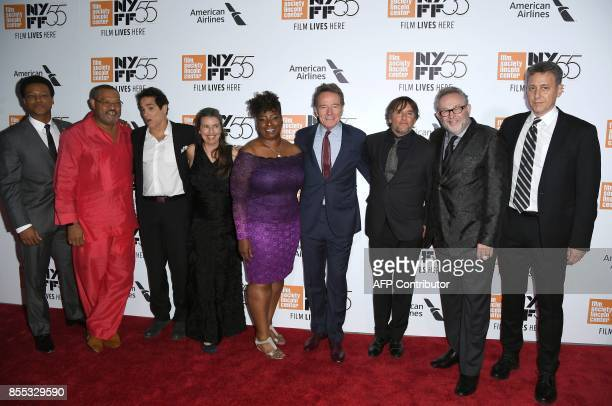 Cast and crew of 'Last Flag Flying' at the opening night premiere during the 55th New York Film Festival at Alice Tully Hall Lincoln Center in New...