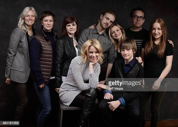 Cast and crew of 'Little Accidents' pose for a portrait during the 2014 Sundance Film Festival at the WireImage Portrait Studio at the Village At The...