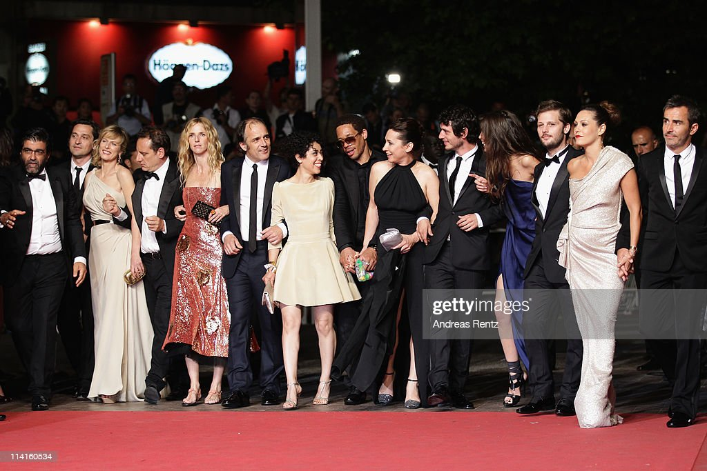 Cast and crew of 'Polisse' attend the 'Polisse' premiere at the Palais des Festivals during the 64th Cannes Film Festival on May 13, 2011 in Cannes, France.
