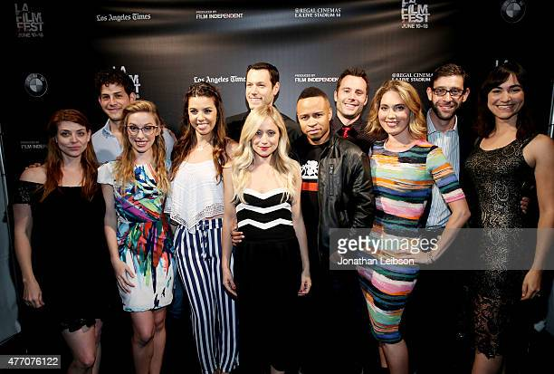 Cast and crew of SheVenge with director Amber Benson and actors David Blue Megan Lee Joy Jessica Sherif Dove Meir Emme Rylan Eugene Byrd and Don...
