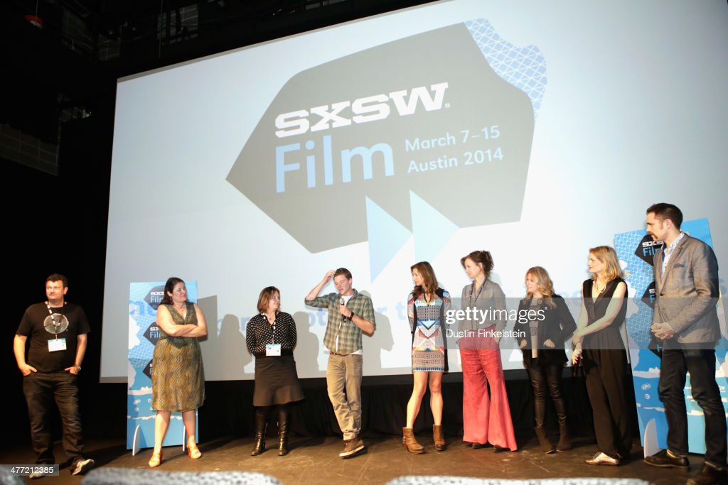 Cast and crew speak onstage at the 'Kelly & Cal' Photo Op and Q&A during the 2014 SXSW Music, Film + Interactive Festival at Rollins Theatre at The Long Center on March 7, 2014 in Austin, Texas.