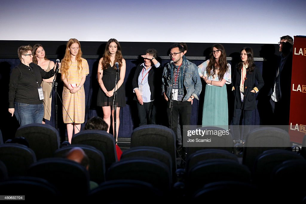Cast and crew speak onstage at the premiere of 'Uncertain Terms' during the 2014 Los Angeles Film Festival at Regal Cinemas LA Live on June 14 2014...