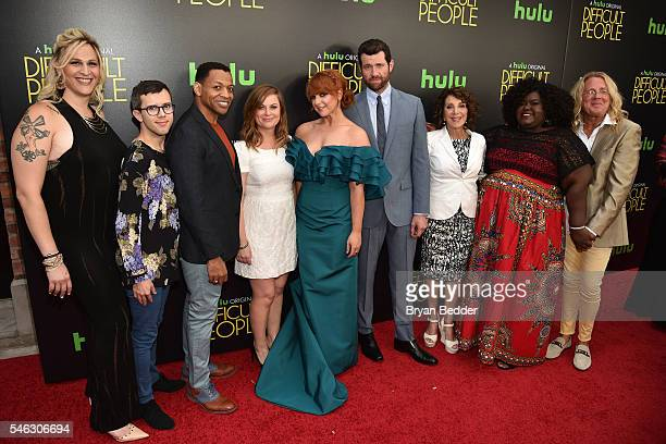 Cast and producers attend the Hulu Original Difficult People premiere at Metrograph on July 11 2016 in New York City